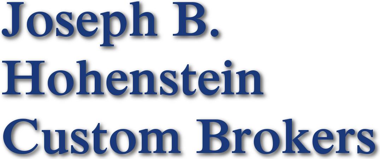 Nationwide US Customs Clearance | Joseph B  Hohenstein Custom
